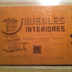 Libros antiguos: MUEBLES E INTERIORES POR J.ARTIGAS - ESTILO BARROCO IMPERIO Y MODERNO - 32 LAMINAS AÑOS 20 30. Lote 53569634