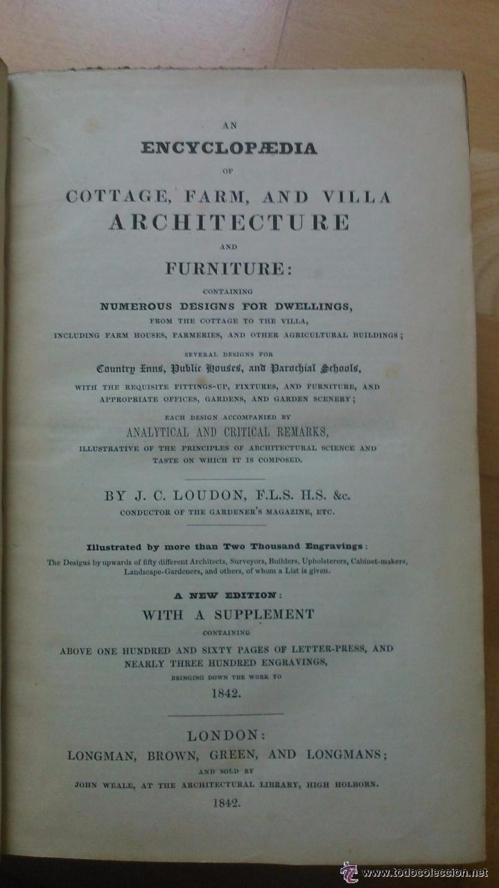 Libros antiguos: An Encyclopedia of cottage, farm, and villa architecture - Foto 3 - 53853439