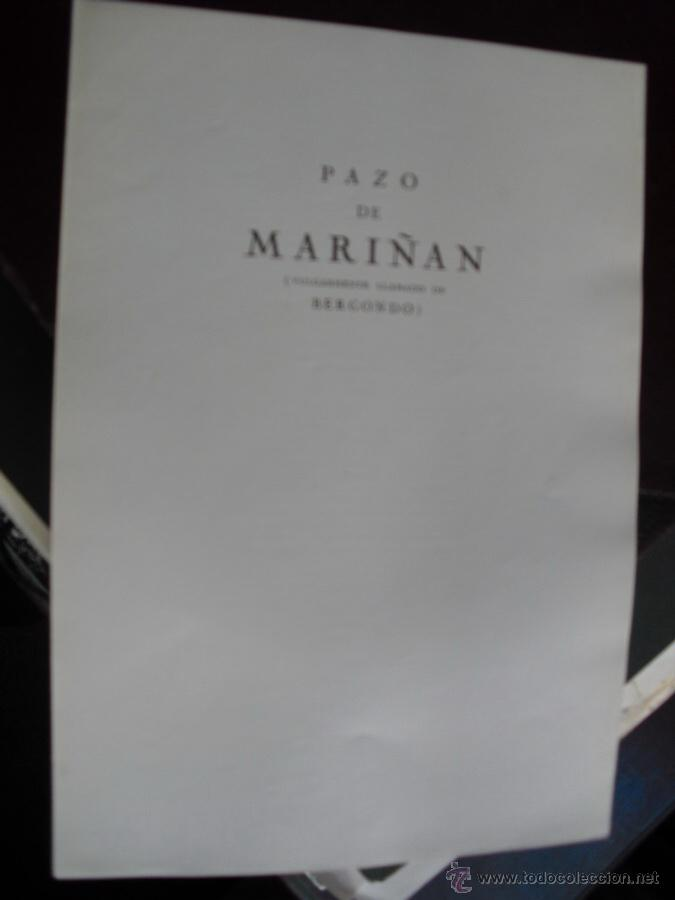 Libros antiguos: LOS PAZOS GALLEGOS MARQUES DE QUINTANAR 1928 PAZO DE MARIÑAN - Foto 2 - 53906837