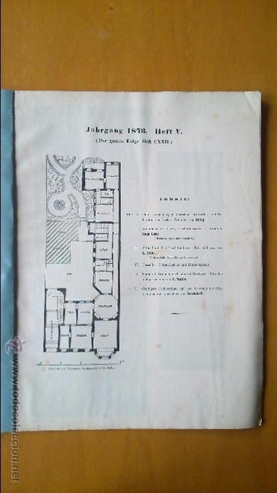 Libros antiguos: Architektonisches Skizen-Buch. 1873 Heft V CXXII. 6 láminas litográficas - Foto 2 - 54388033