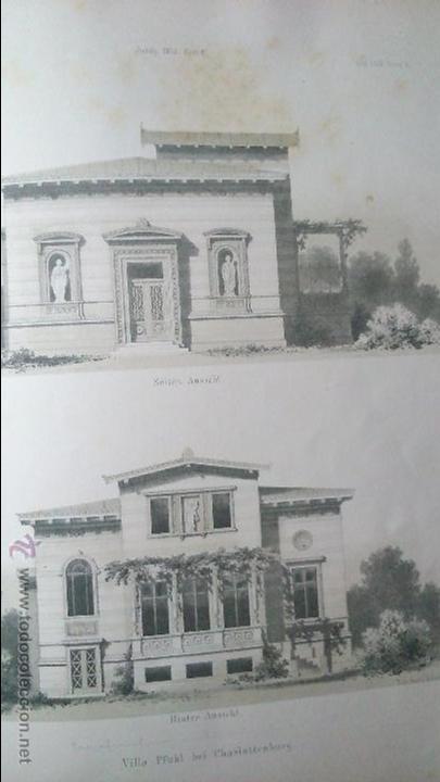 Libros antiguos: Architektonisches Skizen-Buch. 1873 Heft V CXXII. 6 láminas litográficas - Foto 6 - 54388033