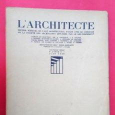 Libros antiguos: L'ARCHITECTE - JUIN 1929. Lote 54782262