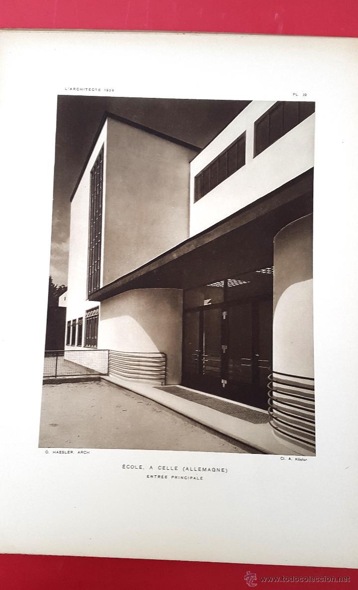 Libros antiguos: LARCHITECTE - JUIN 1929 - Foto 2 - 54782262