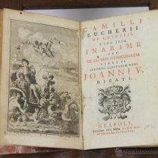 Libros antiguos: 6364- CAMILLI EUCHERII DE QUINTIIS ET SOC JESU INARIME SEU DE BALNEIS. NEAPOLI. 1726.. Lote 49542457