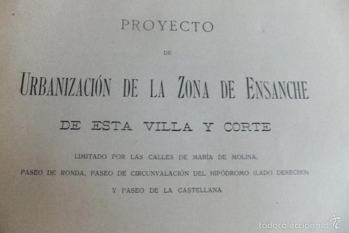 EMILIO ALBA PROYECTO URBANIZACIÓN ENSANCHE VILLA Y CORTE ,CON PLANO. AYUNTAMIENTO MADRID 1917 (Libros Antiguos, Raros y Curiosos - Bellas artes, ocio y coleccion - Arquitectura)