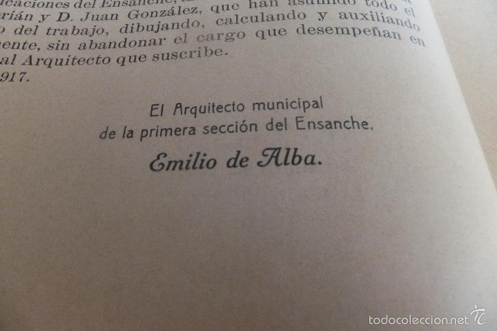 Libros antiguos: Emilio Alba Proyecto Urbanización Ensanche Villa y Corte ,con plano. Ayuntamiento Madrid 1917 - Foto 4 - 56334969