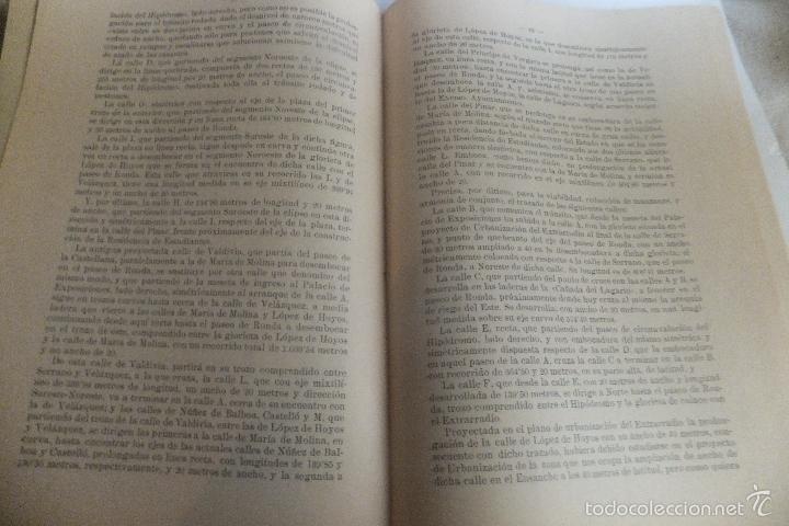 Libros antiguos: Emilio Alba Proyecto Urbanización Ensanche Villa y Corte ,con plano. Ayuntamiento Madrid 1917 - Foto 6 - 56334969