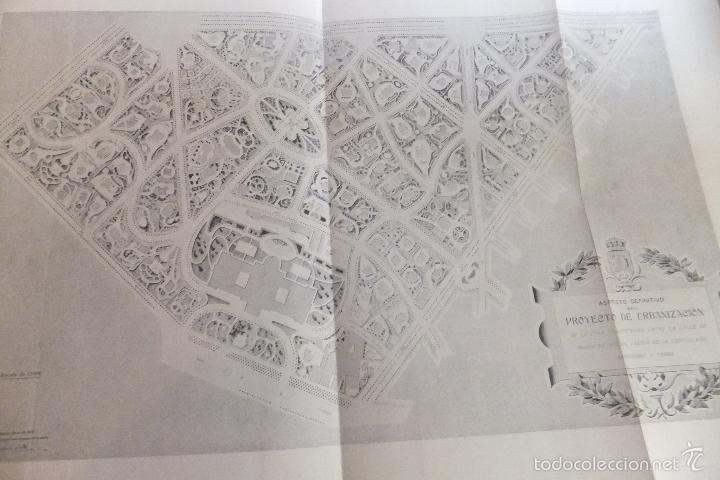 Libros antiguos: Emilio Alba Proyecto Urbanización Ensanche Villa y Corte ,con plano. Ayuntamiento Madrid 1917 - Foto 9 - 56334969