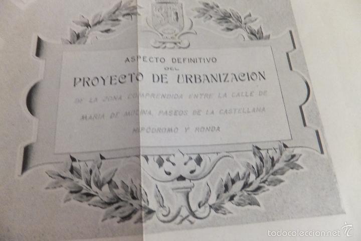 Libros antiguos: Emilio Alba Proyecto Urbanización Ensanche Villa y Corte ,con plano. Ayuntamiento Madrid 1917 - Foto 11 - 56334969