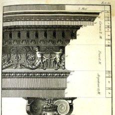 Libros antiguos: LC-048. REGLAS DE LOS 5 ORDENES DE ARQUITECTURA DE VIGNOLA. M. DELAGARDETTE.MADRID.1792.. Lote 57306374