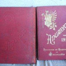 Libros antiguos: ASOCIACION DE ARQUITECTOS DE CATALUÑA. ANUARIO PARA 1912 Y 1917. Lote 57858852