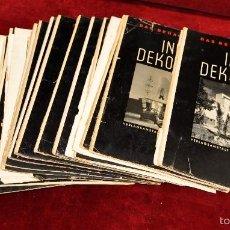 Libros antiguos: LOTE DE 19 REVISTAS ALEMANAS DE DECORACION Y INTERIORISMO. AÑOS 30 Y 40. INNEN DEKORATION. Lote 58390210