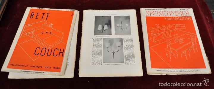 Libros antiguos: LOTE DE 19 REVISTAS ALEMANAS DE DECORACION Y INTERIORISMO. AÑOS 30 Y 40. INNEN DEKORATION - Foto 3 - 58390210