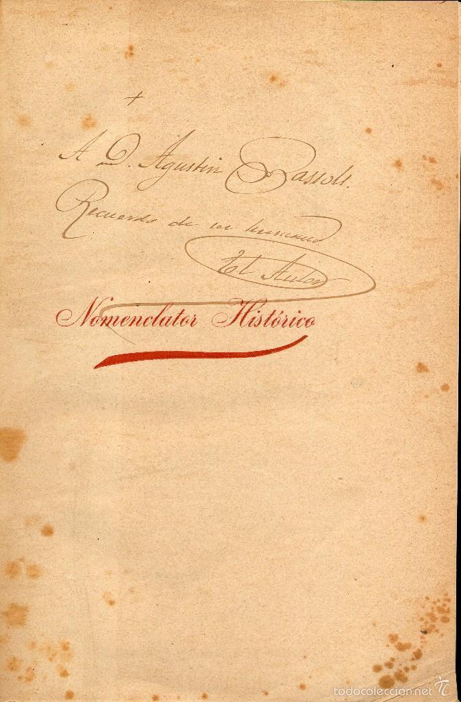 Libros antiguos: NOMENCLATOR HISTÓRICO IGLESIAS PARROQUIALES Y RURALES, SANTUARIOS Y CAPILLAS PROVINCIA GERONA. 1908 - Foto 2 - 58607414