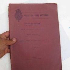 Libros antiguos: LIBRO INEDITO 1913, RIEGO CON AGUAS ARTESIANAS REAL CASA PATRIMONIO DEL PARDO RAFAEL JANINI. Lote 62178844