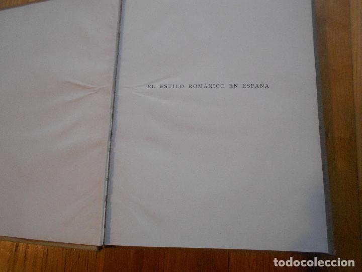 Libros antiguos: LOTE 2 LIBROS, AUGUSTO L,MAYER, EL ESTILO ROMANICO EN ESPAÑA Y EL ESTILO GOTICO EN ESPAÑA 1 EDICION - Foto 4 - 62536752