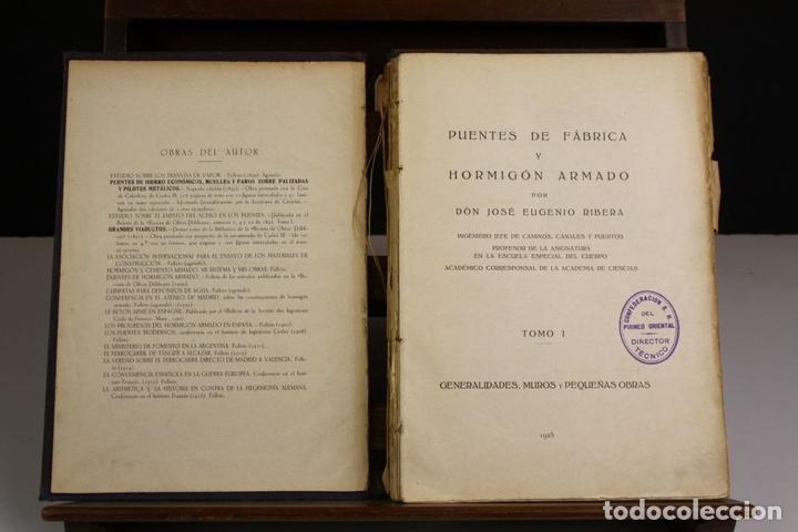 Libros antiguos: 8170 - PUENTES DE FÁBRICA Y HORMIGÓN ARMADO. TOMOS I Y II(VER DESCRIP). RIBERA. 1925/30. - Foto 3 - 66440222