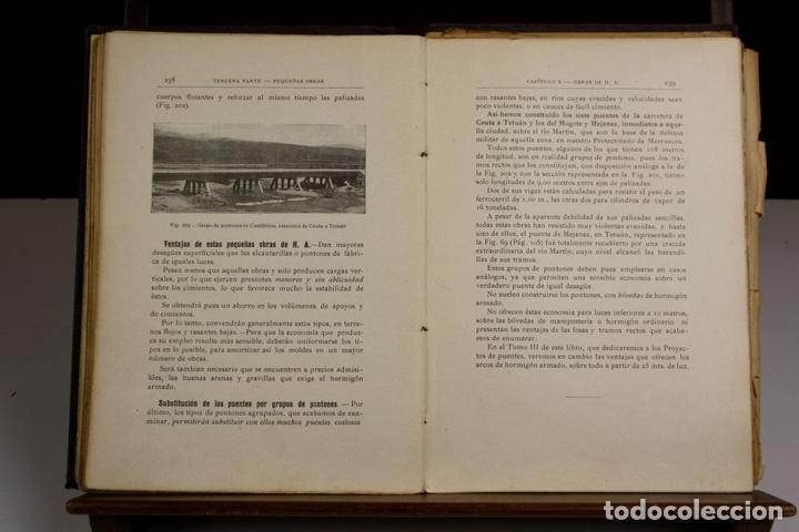 Libros antiguos: 8170 - PUENTES DE FÁBRICA Y HORMIGÓN ARMADO. TOMOS I Y II(VER DESCRIP). RIBERA. 1925/30. - Foto 4 - 66440222