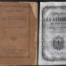 Libros antiguos: DESCRIPCION ARTISTICA DE LA CATEDRAL DE SEVILLA. CEAN BERMUDEZ, JUAN AGUSTIN. A-LSEV-1300. Lote 270628748