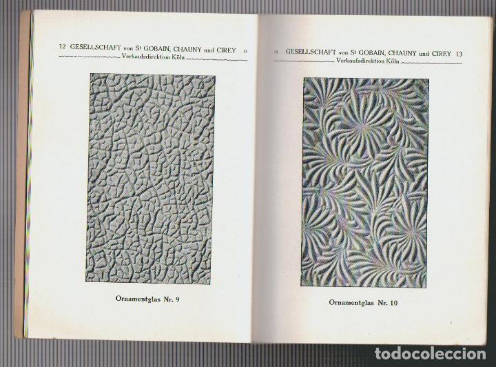 Libros antiguos: Catalogue des verres coules ( vidrios impresos).Saint Gobain, Chauny & Cirey.Köln am Rhein.Años 20 - Foto 3 - 72454935