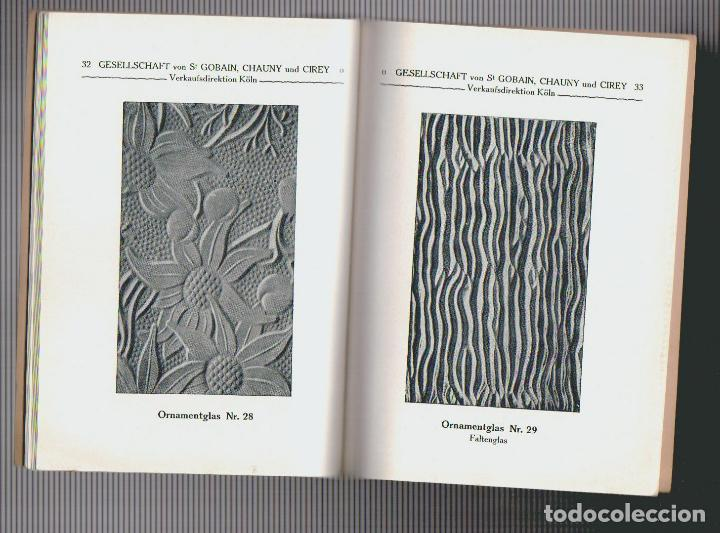Libros antiguos: Catalogue des verres coules ( vidrios impresos).Saint Gobain, Chauny & Cirey.Köln am Rhein.Años 20 - Foto 4 - 72454935