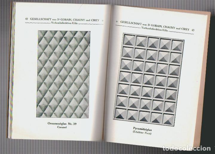 Libros antiguos: Catalogue des verres coules ( vidrios impresos).Saint Gobain, Chauny & Cirey.Köln am Rhein.Años 20 - Foto 5 - 72454935