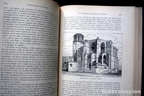 Libros antiguos: LA ARQUITECTURA GOTICA EN ESPAÑA - STREET - con GRABADOS - Foto 10 - 73716475