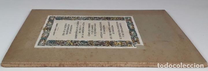 Libros antiguos: AGUSTÍN DURAN Y SANPERE. IDEA DE LA SUCESIVA TRANSFORMACIÓN DE BARCELONA (VER DESCRIPCIÓN). S/F. - Foto 7 - 79764729