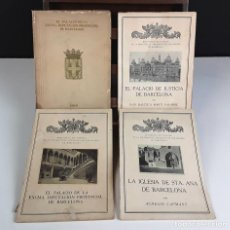 Libros antiguos: SOCIEDAD DE ATRACCIÓN DE FORASTEROS DE BARCELONA. 4 VOLÚMENES. (VER DESCRIP). VV. AA. 1929.. Lote 79894301