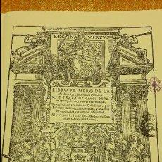 Libros antiguos: LIBRO PRIMERO DE LA ARCHITECTURA DE ANDREA PALLADIO,FACSIMIL,SIN ENCUADERNAR.. Lote 130300615