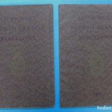 Libros antiguos: CONCURSO DE ANTEPROYECTOS PARA EL PUERTO FRANCO. CONSORCIO DEL PUERTO FRANCO DE BARCELONA. 1927. Lote 85611468