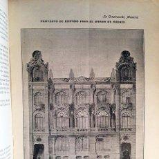 Libros antiguos: LA CONSTRUCCIÓN MODERNA. (REVISTA DE ARQUITECTURA E INGENIERÍA) 1904. (PROYECTO CASINO DE MADRID; ET. Lote 85915008