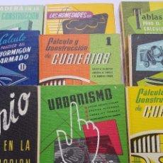 Libros antiguos: LOTE DE NUEVE LIBROS MONOGRAFICOS ARQUITECTURA Y CONSTRUCCION, CEAC. Lote 87476652