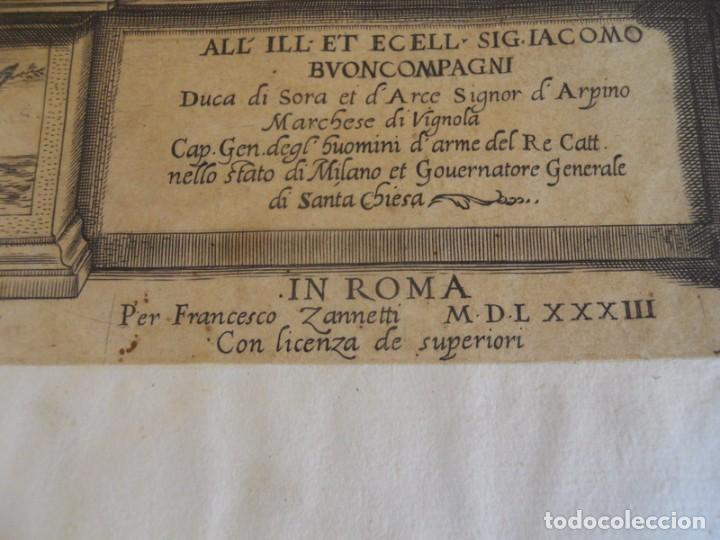 Libros antiguos: BAROZZI DA VIGNOLA: LE DUE REGOLE DELLA PROSPETTIVA..ROMA, 1583 1ª EDIC. ARQUITECTURA RENACIMIENTO - Foto 5 - 87617588