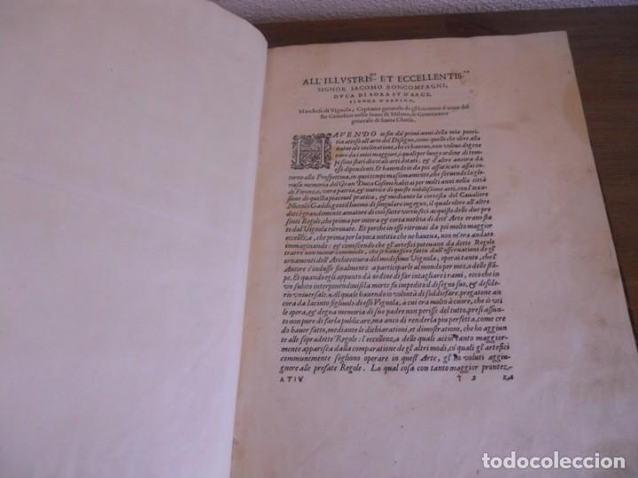 Libros antiguos: BAROZZI DA VIGNOLA: LE DUE REGOLE DELLA PROSPETTIVA..ROMA, 1583 1ª EDIC. ARQUITECTURA RENACIMIENTO - Foto 6 - 87617588