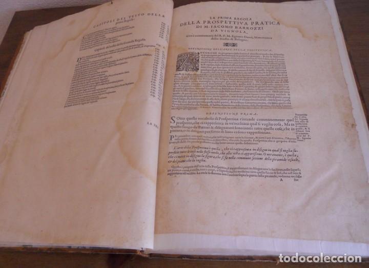 Libros antiguos: BAROZZI DA VIGNOLA: LE DUE REGOLE DELLA PROSPETTIVA..ROMA, 1583 1ª EDIC. ARQUITECTURA RENACIMIENTO - Foto 8 - 87617588