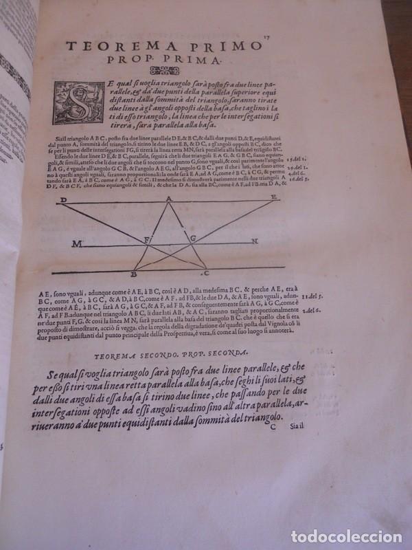Libros antiguos: BAROZZI DA VIGNOLA: LE DUE REGOLE DELLA PROSPETTIVA..ROMA, 1583 1ª EDIC. ARQUITECTURA RENACIMIENTO - Foto 9 - 87617588