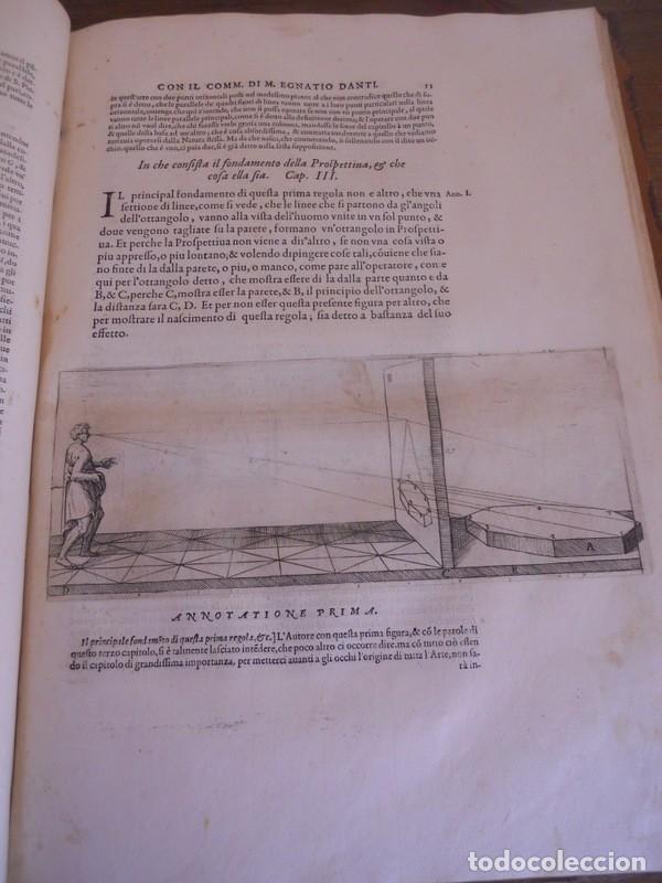 Libros antiguos: BAROZZI DA VIGNOLA: LE DUE REGOLE DELLA PROSPETTIVA..ROMA, 1583 1ª EDIC. ARQUITECTURA RENACIMIENTO - Foto 11 - 87617588