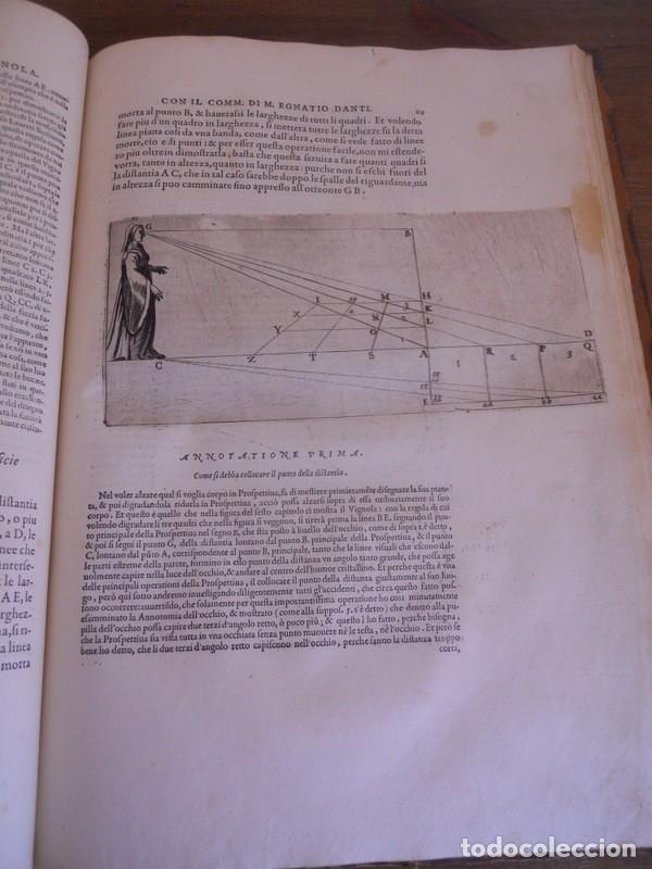 Libros antiguos: BAROZZI DA VIGNOLA: LE DUE REGOLE DELLA PROSPETTIVA..ROMA, 1583 1ª EDIC. ARQUITECTURA RENACIMIENTO - Foto 12 - 87617588