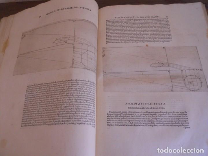 Libros antiguos: BAROZZI DA VIGNOLA: LE DUE REGOLE DELLA PROSPETTIVA..ROMA, 1583 1ª EDIC. ARQUITECTURA RENACIMIENTO - Foto 14 - 87617588