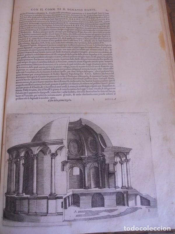 Libros antiguos: BAROZZI DA VIGNOLA: LE DUE REGOLE DELLA PROSPETTIVA..ROMA, 1583 1ª EDIC. ARQUITECTURA RENACIMIENTO - Foto 16 - 87617588