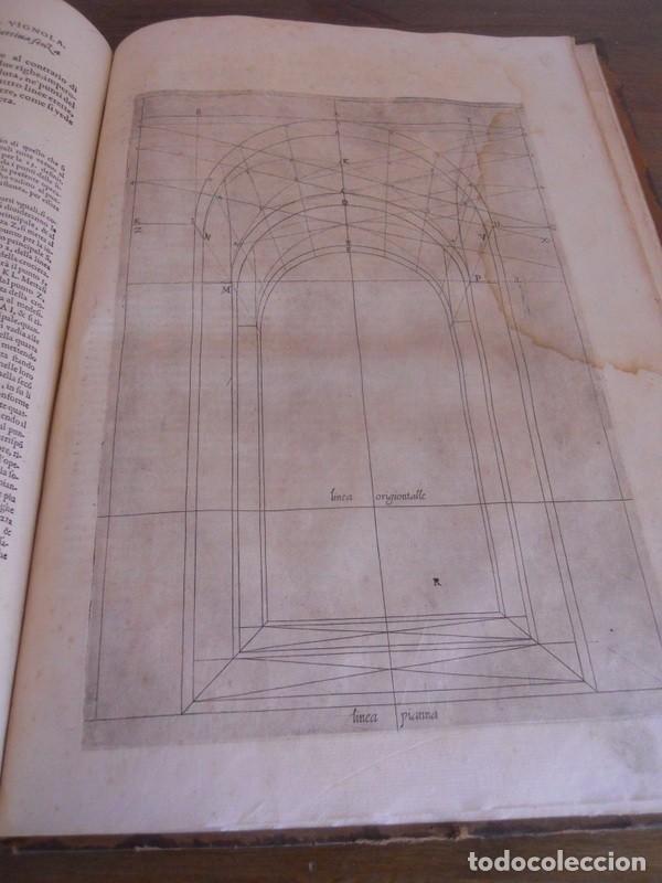Libros antiguos: BAROZZI DA VIGNOLA: LE DUE REGOLE DELLA PROSPETTIVA..ROMA, 1583 1ª EDIC. ARQUITECTURA RENACIMIENTO - Foto 20 - 87617588