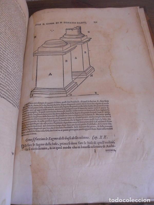 Libros antiguos: BAROZZI DA VIGNOLA: LE DUE REGOLE DELLA PROSPETTIVA..ROMA, 1583 1ª EDIC. ARQUITECTURA RENACIMIENTO - Foto 24 - 87617588