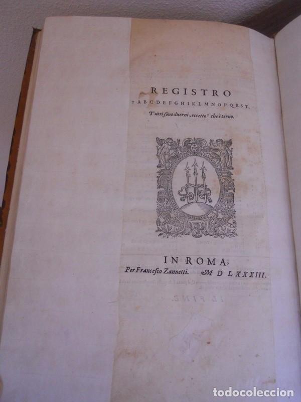 Libros antiguos: BAROZZI DA VIGNOLA: LE DUE REGOLE DELLA PROSPETTIVA..ROMA, 1583 1ª EDIC. ARQUITECTURA RENACIMIENTO - Foto 27 - 87617588