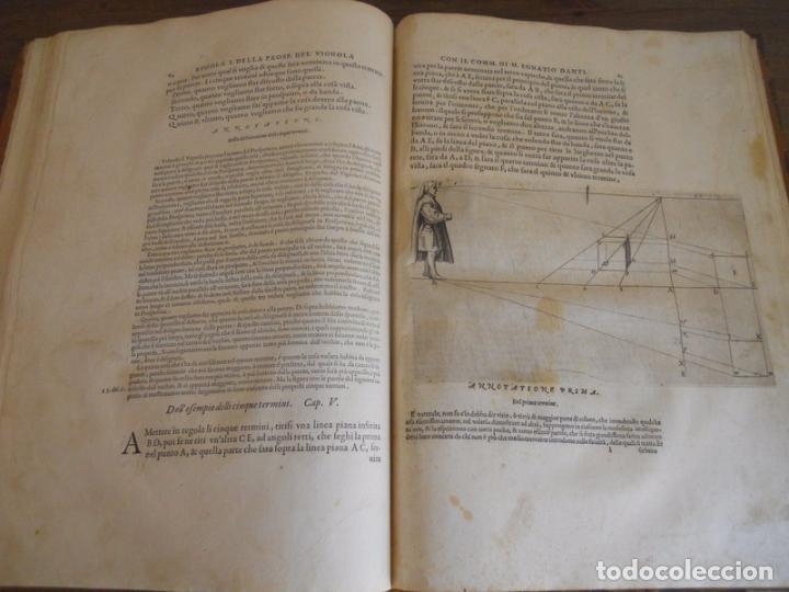 Libros antiguos: BAROZZI DA VIGNOLA: LE DUE REGOLE DELLA PROSPETTIVA..ROMA, 1583 1ª EDIC. ARQUITECTURA RENACIMIENTO - Foto 31 - 87617588