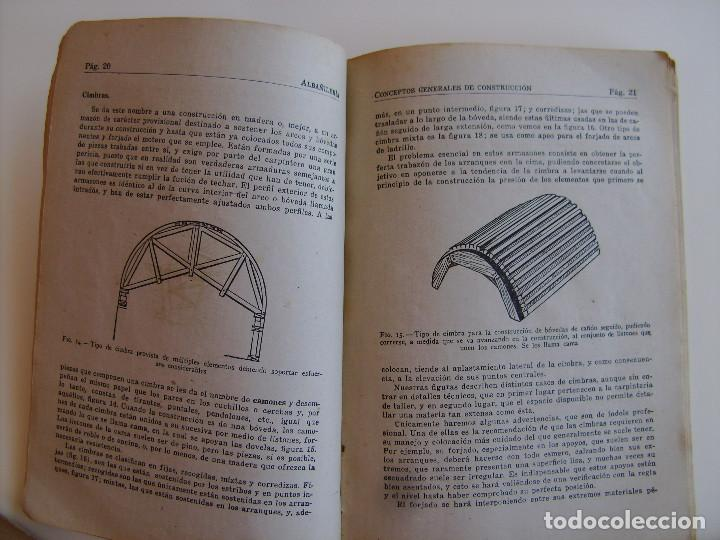 Libros antiguos: Lote de tres libros de construcción, mármoles, albañilería, yesos y estucos. - Foto 6 - 89190988