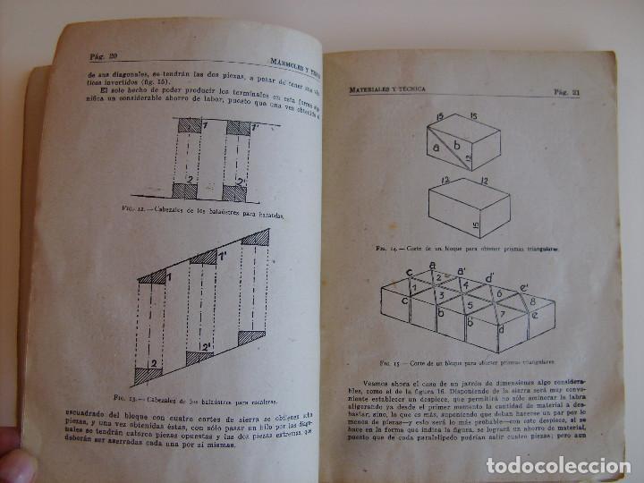 Libros antiguos: Lote de tres libros de construcción, mármoles, albañilería, yesos y estucos. - Foto 7 - 89190988