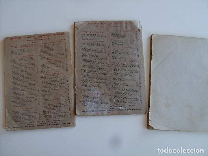Libros antiguos: Lote de tres libros de construcción, mármoles, albañilería, yesos y estucos. - Foto 8 - 89190988