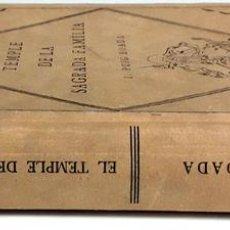Libros antiguos: EL TEMPLE DE LA SAGRADA FAMILIA. I. PUIG BOADA. EDITORIAL BARCINO. 1929.. Lote 89837452