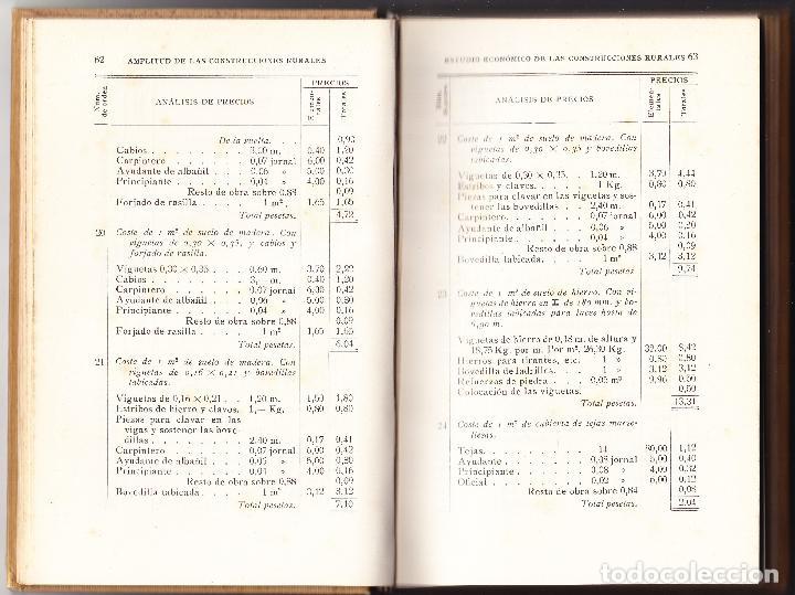 Libros antiguos: CONSTRUCCIONES RURALES - VICTOR NICCOLI - ALVAREZ VALDES - GILI EDITOR 1920 - Foto 3 - 89995420